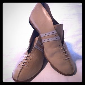 Vintage Jan Jensen Leather Flat Booties